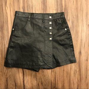 Vintage leather skort